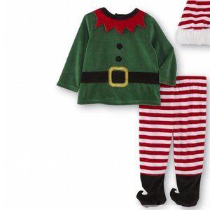 Little Wonders Velvet Christmas Elf Outfit 6-9mo